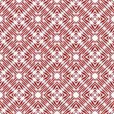 De uitstekende vector controleerde naadloos patroon met geborstelde lijnen in rood en wit Textuur in etnische painterly stijl Royalty-vrije Illustratie