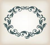 De uitstekende vector van de het ornamentkalligrafie van het grenskader Stock Foto