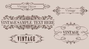 De uitstekende Vectorgrafiek van het Kalligrafiekader Stock Afbeeldingen