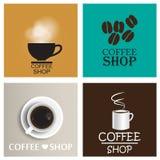 De uitstekende vectorreeks van de koffiewinkel Royalty-vrije Stock Afbeelding