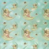 De uitstekende Victoriaanse Engelen - Pastelkleurengel - vormden Digitaal Document Als achtergrond - het Verpakken Document Ontwe royalty-vrije illustratie