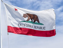 De uitstekende Vlag van de Staat van Californië Royalty-vrije Stock Foto