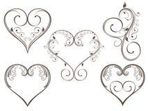 De uitstekende vorm van het ontwerphart voor de Dag van de Valentijnskaart. royalty-vrije illustratie