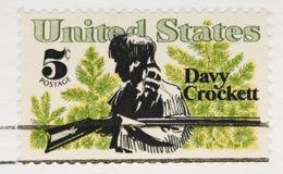 De uitstekende Zegel Davy Crockett van 1967 Royalty-vrije Stock Fotografie