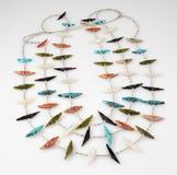De uitstekende Zuni-Halsband van de Vogelamulet. Royalty-vrije Stock Afbeeldingen
