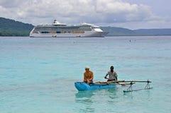 De UITSTRALING van de cruisevoering VAN het OVERZEES Stock Afbeeldingen