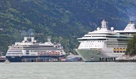 De Uitstraling van de Schepen van de Cruise van Alaska, Amsterdam Stock Foto's