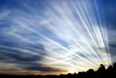 De uitstraling van de zon stock foto's