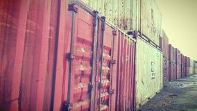 De uitvoercontainers Stock Foto's