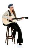 De uitvoerder van de muziek, gitaar Stock Fotografie
