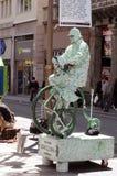 De uitvoerder van de straat, Barcelona stock fotografie