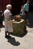 De uitvoerder van de straat in Londen royalty-vrije stock foto