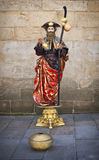 De uitvoerder van de straat in Santiago DE Compostela Stock Afbeelding