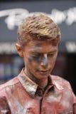 De uitvoerder van het Babolintheater bij het de Randfestival 2013 van Edinburgh Stock Afbeeldingen