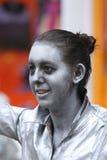 De uitvoerder van het Babolintheater bij het de Randfestival 2013 van Edinburgh Stock Fotografie