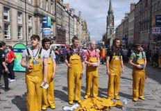 De uitvoerders in Edinburgh omzomen Festival stock fotografie