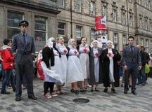 De uitvoerders in Edinburgh omzomen Festival Stock Foto