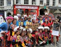 De uitvoerders in Edinburgh omzomen Festival 2014 Royalty-vrije Stock Foto's