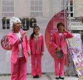 De uitvoerders in Edinburgh omzomen Festival 2015 Stock Foto