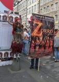 De uitvoerders in Edinburgh omzomen Festival 2015 Royalty-vrije Stock Foto