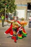 De uitvoerders met kleurrijke en gedetailleerde kostuums nemen aan C deel royalty-vrije stock fotografie