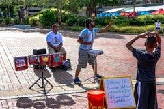 De Uitvoerders van de percussiestraat in Baltimore royalty-vrije stock fotografie