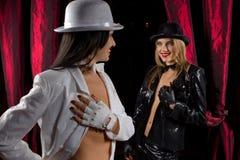 De uitvoerders van het cabaret royalty-vrije stock fotografie