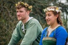 De uitvoerders van het meidagfestival royalty-vrije stock foto's