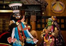 De uitvoerders van Kathakali royalty-vrije stock fotografie