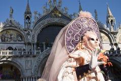 De Uitvoerders van Venetië Carnaval Stock Foto's