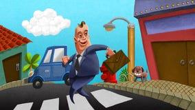 De uitvoerende macht op de straat stock illustratie