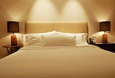De uitvoerende Slaapkamer van het Hotel Stock Afbeeldingen