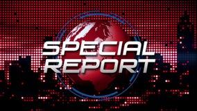De Uitzending van het speciaal Rapportnieuws animeerde Grafisch, Rood stock illustratie
