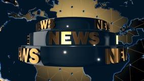 De uitzending van het wereldnieuws stock videobeelden