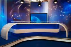 De uitzendingsstudio van TV Stock Afbeelding