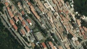 De Uitzoomen San Marino van aardeinzoomen stock video