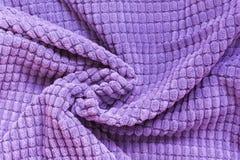 De ultraviolette textiel, sluit omhoog Hoogste mening Abstract geruit patroon Stock Foto's