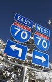 70 de um estado a outro Colorado Fotografia de Stock Royalty Free