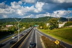 240 de um estado a outro, em Asheville do centro, North Carolina Imagens de Stock