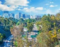 5 de um estado a outro em San Diego Fotos de Stock Royalty Free