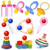 De um grupo de crianças com melharucos brinca Yul e chocalha Foto de Stock