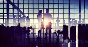 De uma comunicação da reunião da discussão executivos do conceito do escritório Fotos de Stock