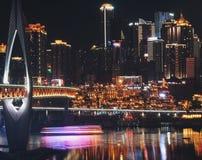 De uma noite em Chongqing Imagens de Stock Royalty Free