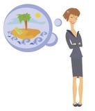 De uma vida da mulher de negócio Ilustração Royalty Free