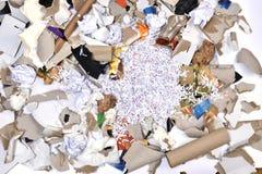 de un envase de reciclaje de papel Foto de archivo libre de regalías