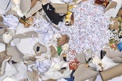 de un envase de reciclaje de papel Fotos de archivo
