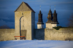 De Unesco-Plaats Visby.GN van de Werelderfenis Stock Foto