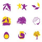 De unie & de groeisymbolen van het embleem Stock Fotografie
