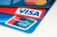De Unie betaalt creditcard Royalty-vrije Stock Foto's