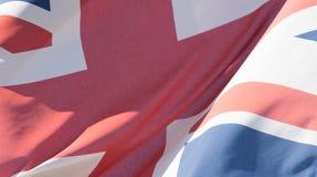 De Unie Jack Waving Flag G sluit omhoog Royalty-vrije Stock Afbeeldingen